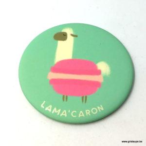 Magnet humoristique de Camille Chaussy représentant un lama