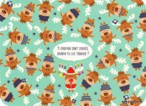 Carte de voeux humorstique de Lali représentant des rennes
