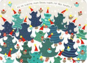 Carte de voeux humoristique de Lali représentant des sapins de Noël