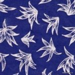 papier de lokta du nepal fait à la main fleurs argentées sur fond bleu
