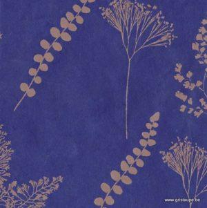 papier main de lokta nepalais lamali botanique bleu