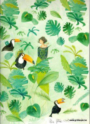 carte postale grand format être fêtée c'est être aimée illustrée par anne sophie rutsaert