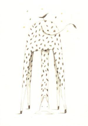 carte illustrée et éditée par aline tekent représentant une girafe