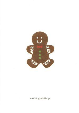 carte postale double illustrée et éditée par kartotek copenhagen sweet greetings gingerbread