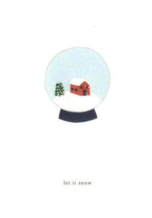 carte postale double illustrée et éditée par kartotek copenhagen let it snow