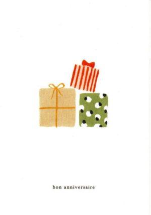 carte postale double illustrée et éditée par kartotek copenhagen bon anniversaire gift stack
